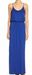 LUSH blue knit maxi dress. Soft & comfy